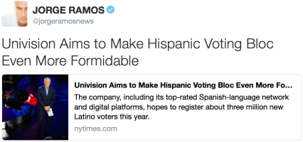 Hispanic voting bloc